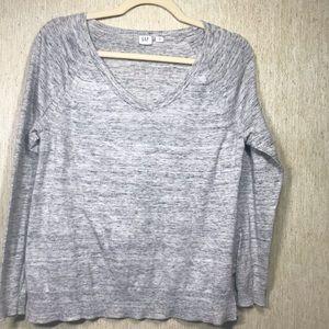 Gap Marled Gray v-neck sweater, size Small.